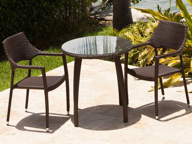 Source outdoor furniture tuscanna wicker bistro set so for Source outdoor furniture