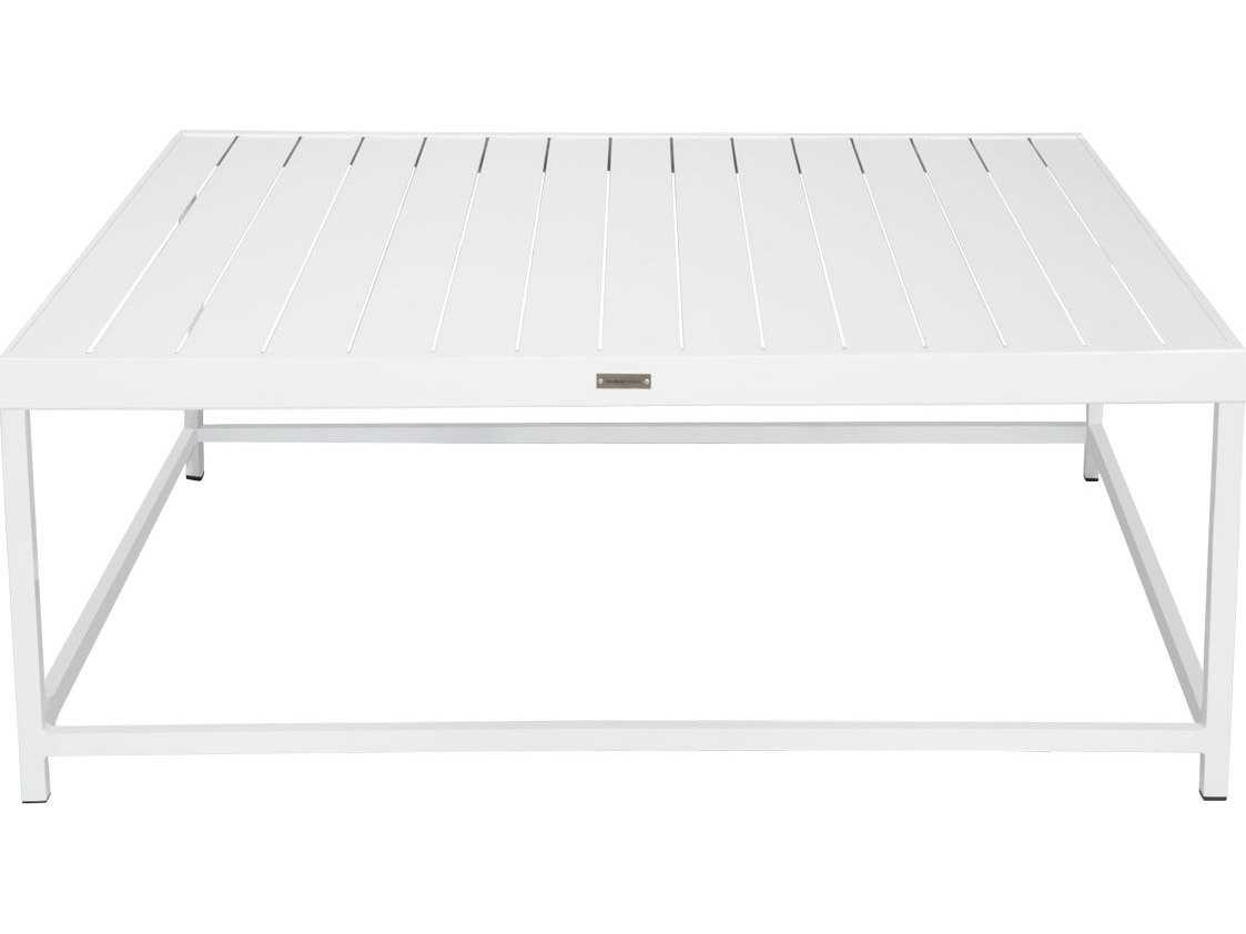 Source Outdoor Furniture Delano Aluminum 42 Square Coffee Table So 3209 301
