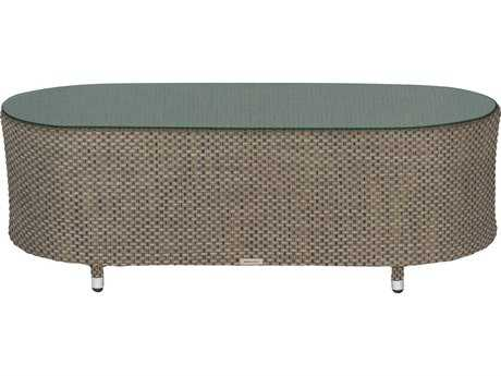 Source Outdoor Furniture Circa Wrap Aluminum 50 x 24 Oval Coffee Table