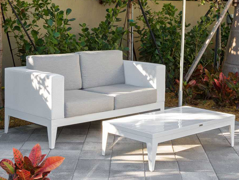 Source Outdoor Furniture South Beach Aluminum Loveseat Grande