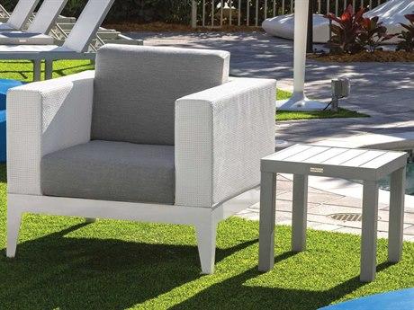 Source Outdoor South Beach Aluminum 1 Person Cushion Conversation Patio Lounge Set