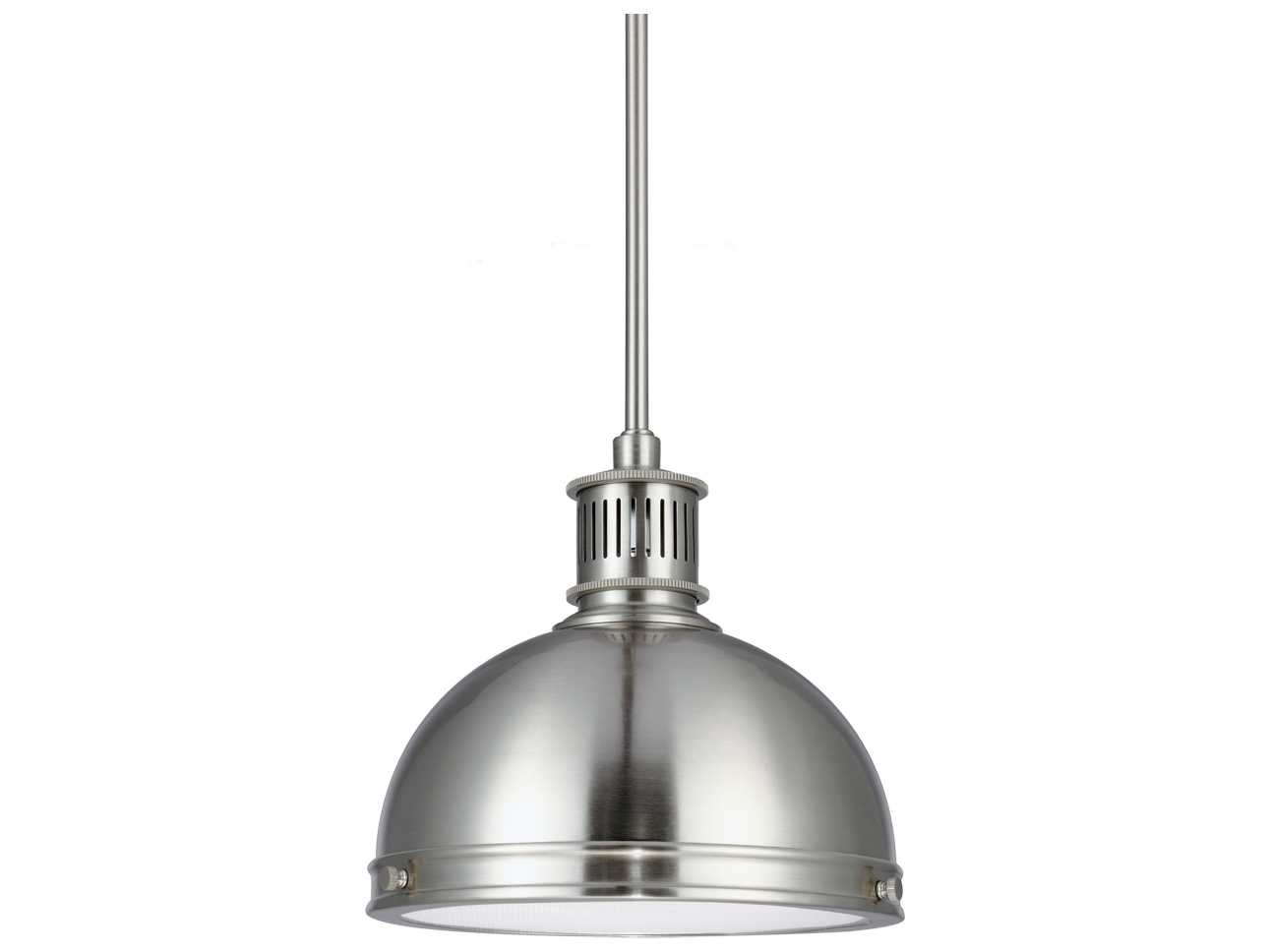 Sea Gull Lighting Pratt Street Metal Brushed Nickel 9 5 39 39 Wide Fluore