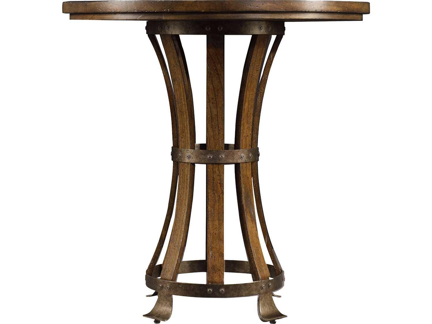 Stanley Furniture European Farmhouse 42 Round Winemaker s Tasting Table