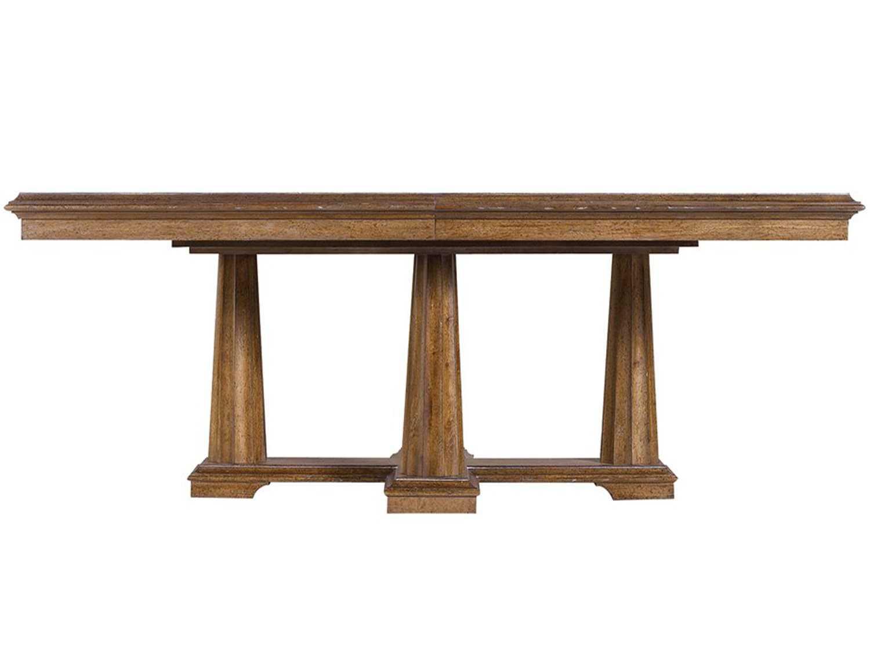 Stanley furniture archipelago shoal 80 39 39 x 48 for Rectangular pedestal dining table