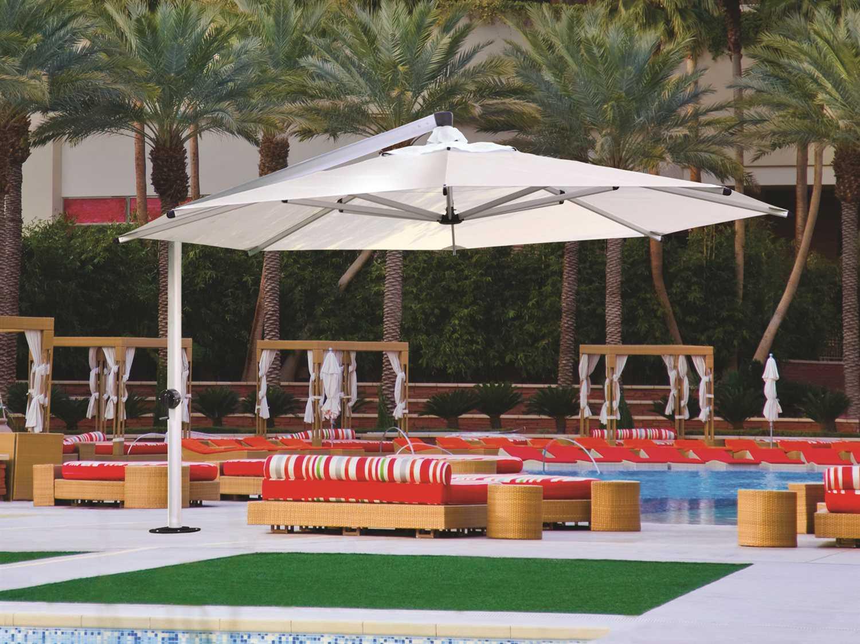 shademaker galaxy aluminum 16u00274 crank lift octagon umbrella list price free shipping from - Large Patio Umbrellas