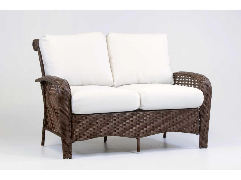 South sea rattan martinique wicker conversation cushion lounge set martls - Conversation set replacement cushions ...