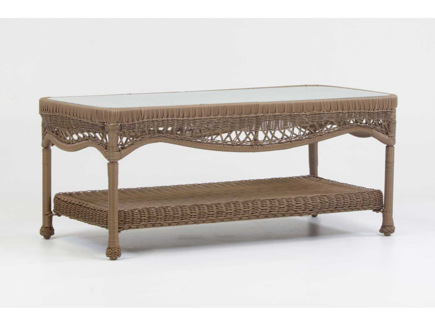 South Sea Rattan Riviera Wicker 44 X 22 Rectangular Coffee