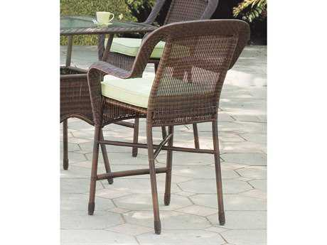 South Sea Rattan Key West Wicker Cushion Arm Bar Stool