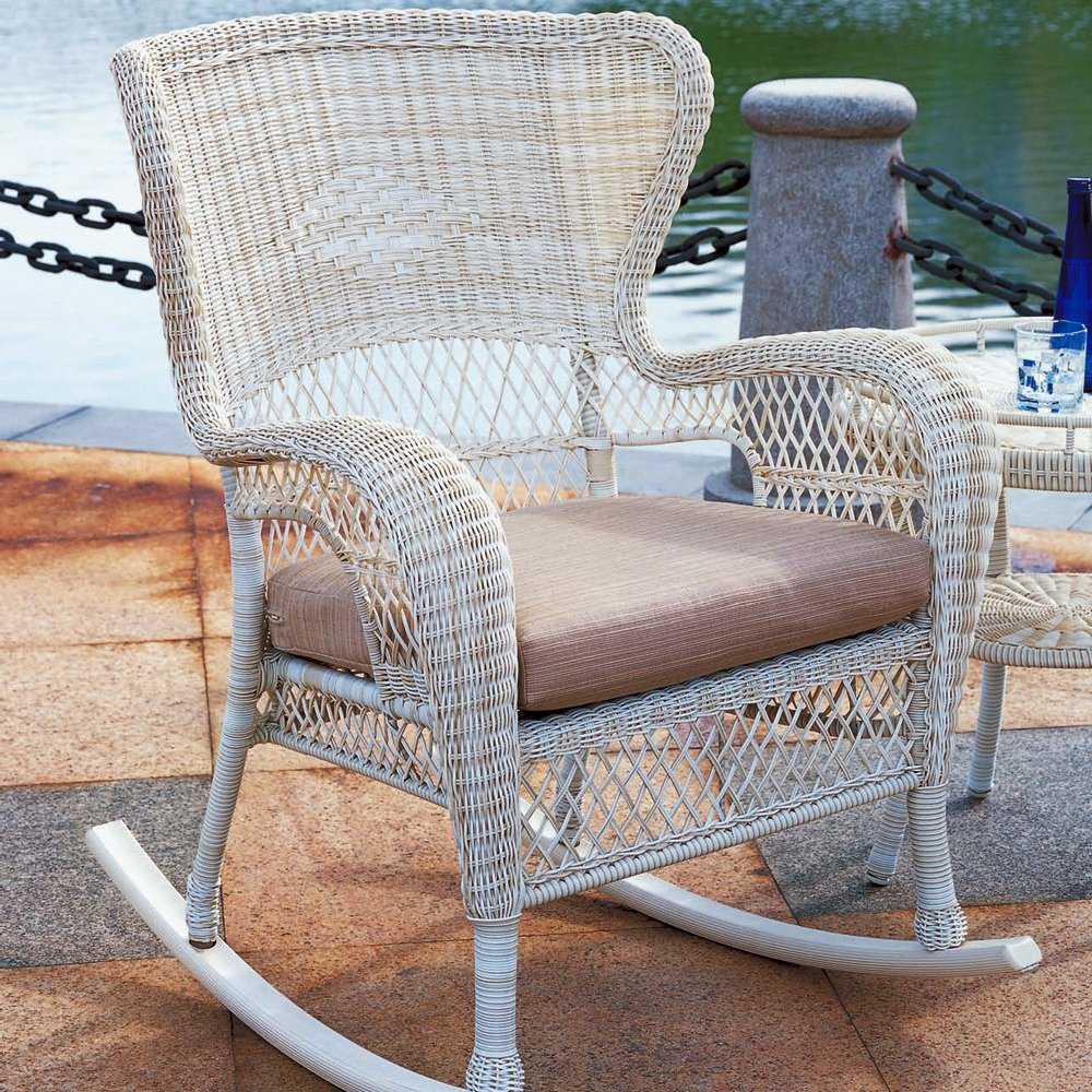 South Sea Rattan Napa Wicker Cushion Arm Rocker Lounge Chair