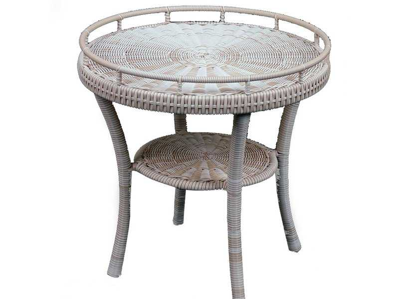 south sea rattan napa wicker 22 round end table 75843