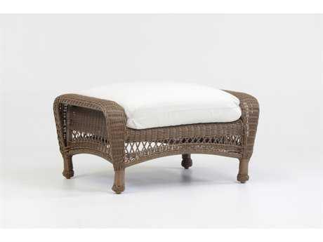 South Sea Rattan Savannah Wicker Cushion Ottoman