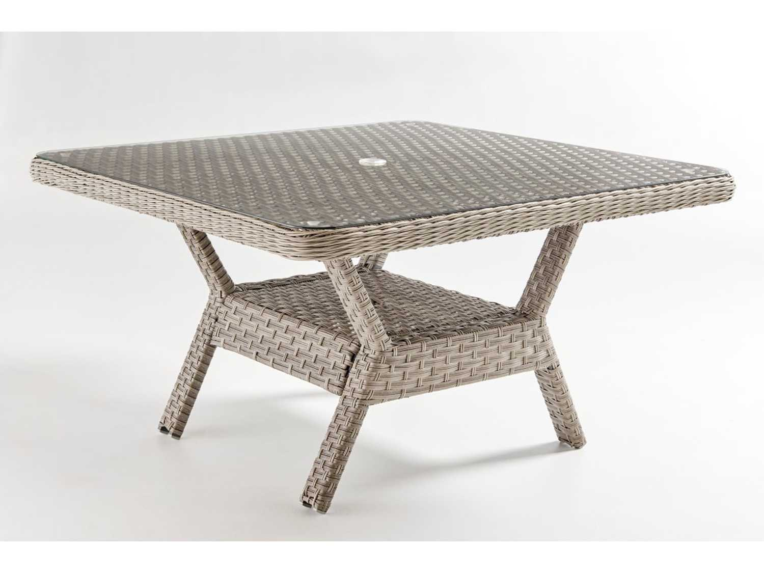 South Sea Rattan Mayfair Wicker 48 Square Dining Chat