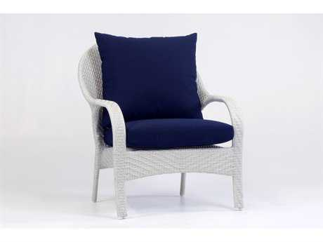 South Sea Rattan Bahia Wicker Cushion Arm Lounge Chair