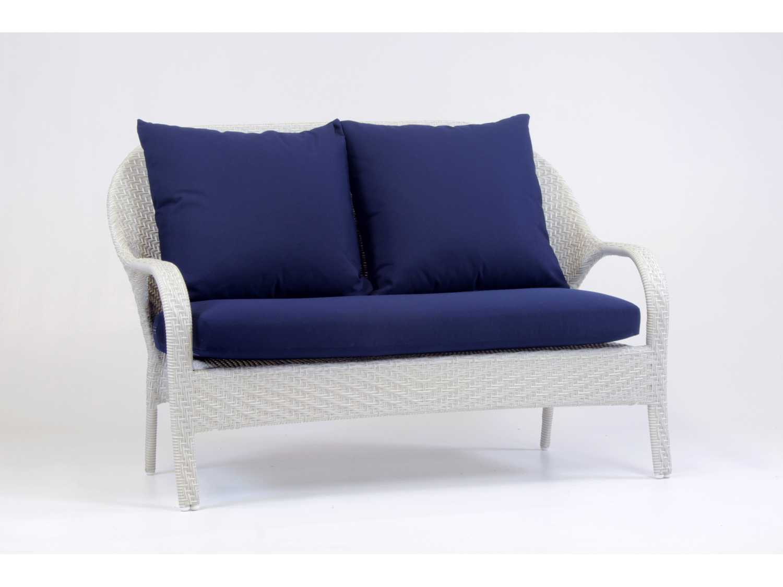 South sea rattan bahia wicker conversation cushion lounge set bahwr - Conversation set replacement cushions ...