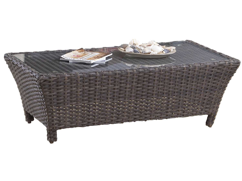 South sea rattan panama wicker 39 x 26 rectangular coffee for Rattan coffee table