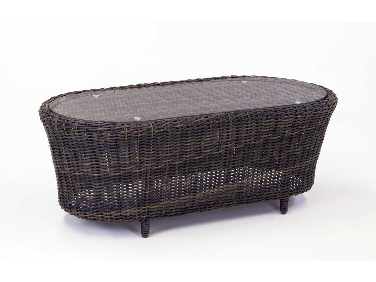 South Sea Rattan Saint John Wicker 39 X 26 Oval Coffee
