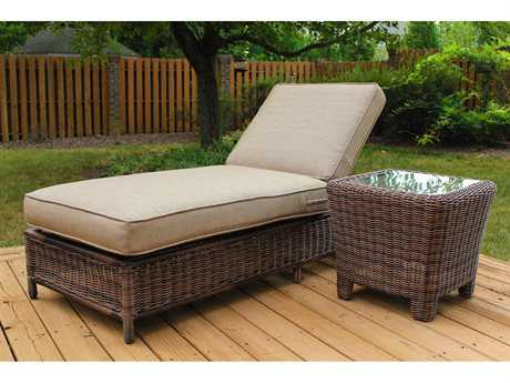 South Sea Rattan Del Ray Wicker 1 Person Cushion Pool Patio Lounge Set