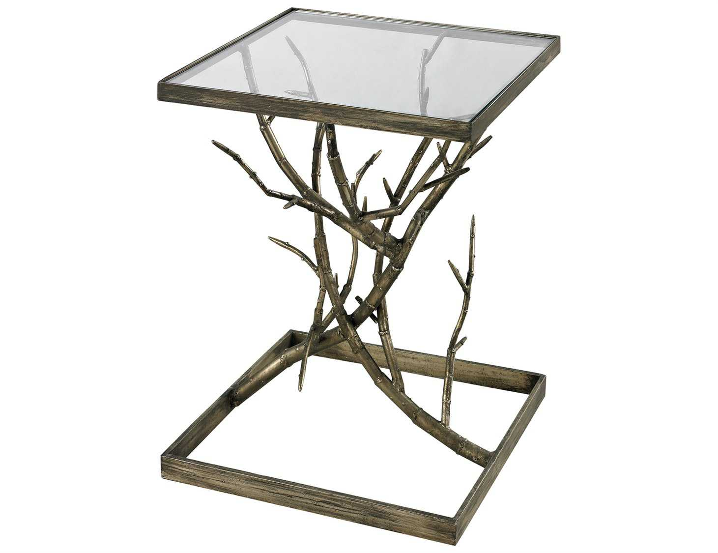 Sterling Blackened Silver Branch 18 X 18 End Table