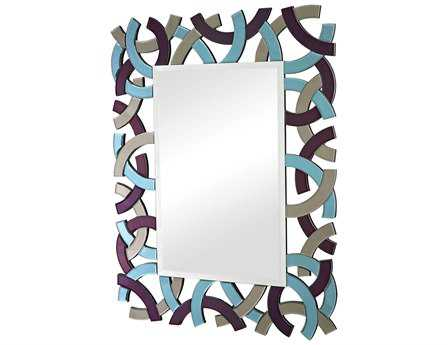 Sterling Colored Glass Framed 34 x 44 Wall Mirror