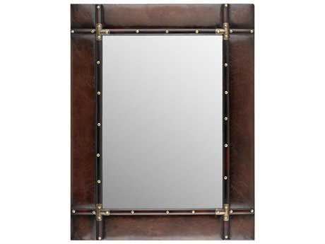 Sterling Travelers Dark Tan 28''W x 36''H Rectangular Wall Mirror
