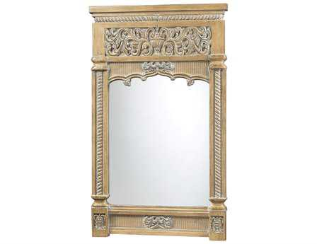 Sterling guilford carved bleached wood 30 x 50 floor mirror for Mirror 50 x 30