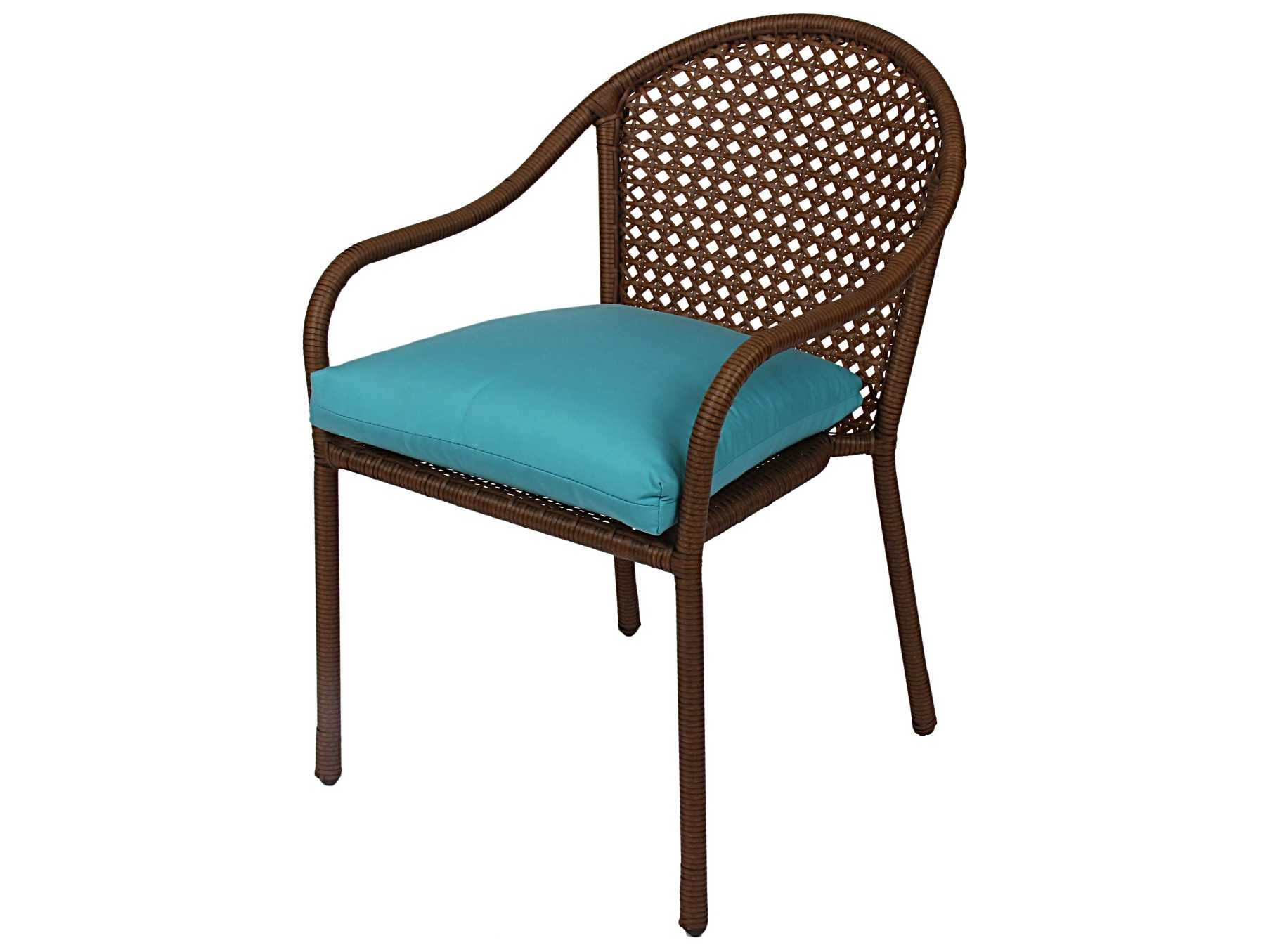 Suncoast Kona Cushion Wicker Bistro Dining Set