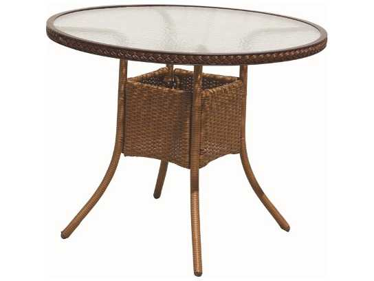 Suncoast Kona Wicker 36 39 39 Round Dining Table 123 T36