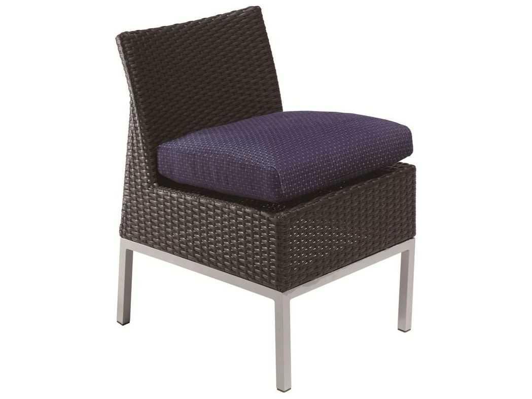 Suncoast Avenir Wicker Cushion Side Dining Chair