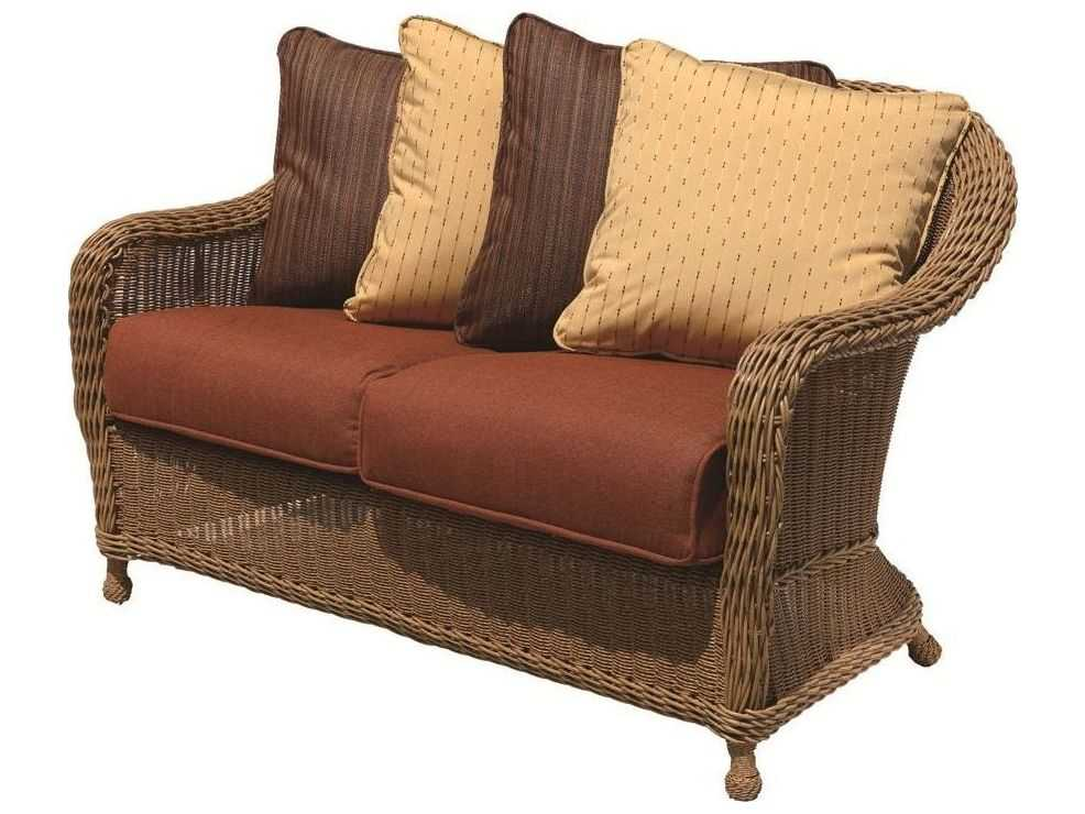 Suncoast Monaco Wicker Cushion Arm Loveseat 125 19