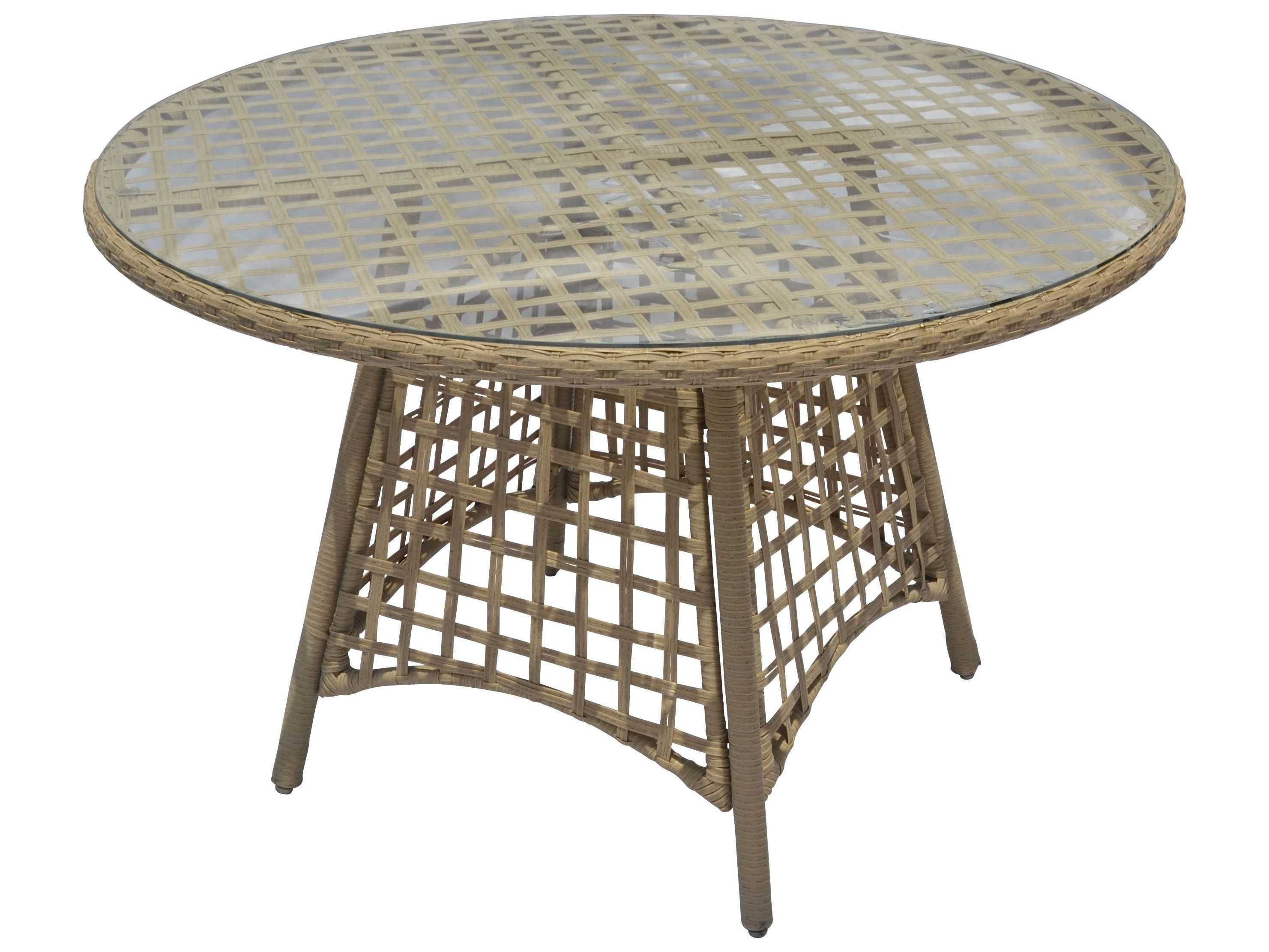 Suncoast Sedona Wicker 48 Round Dining Table