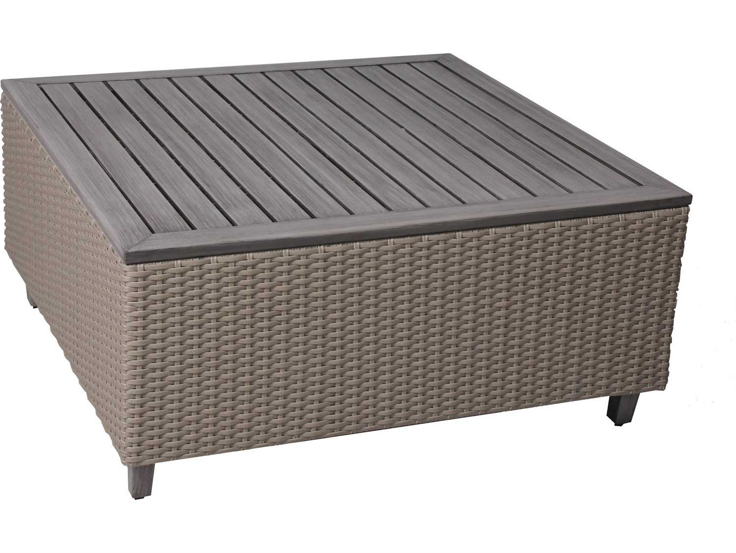 Suncoast Haven Wicker 42 Square Coffee Table 130 T42c