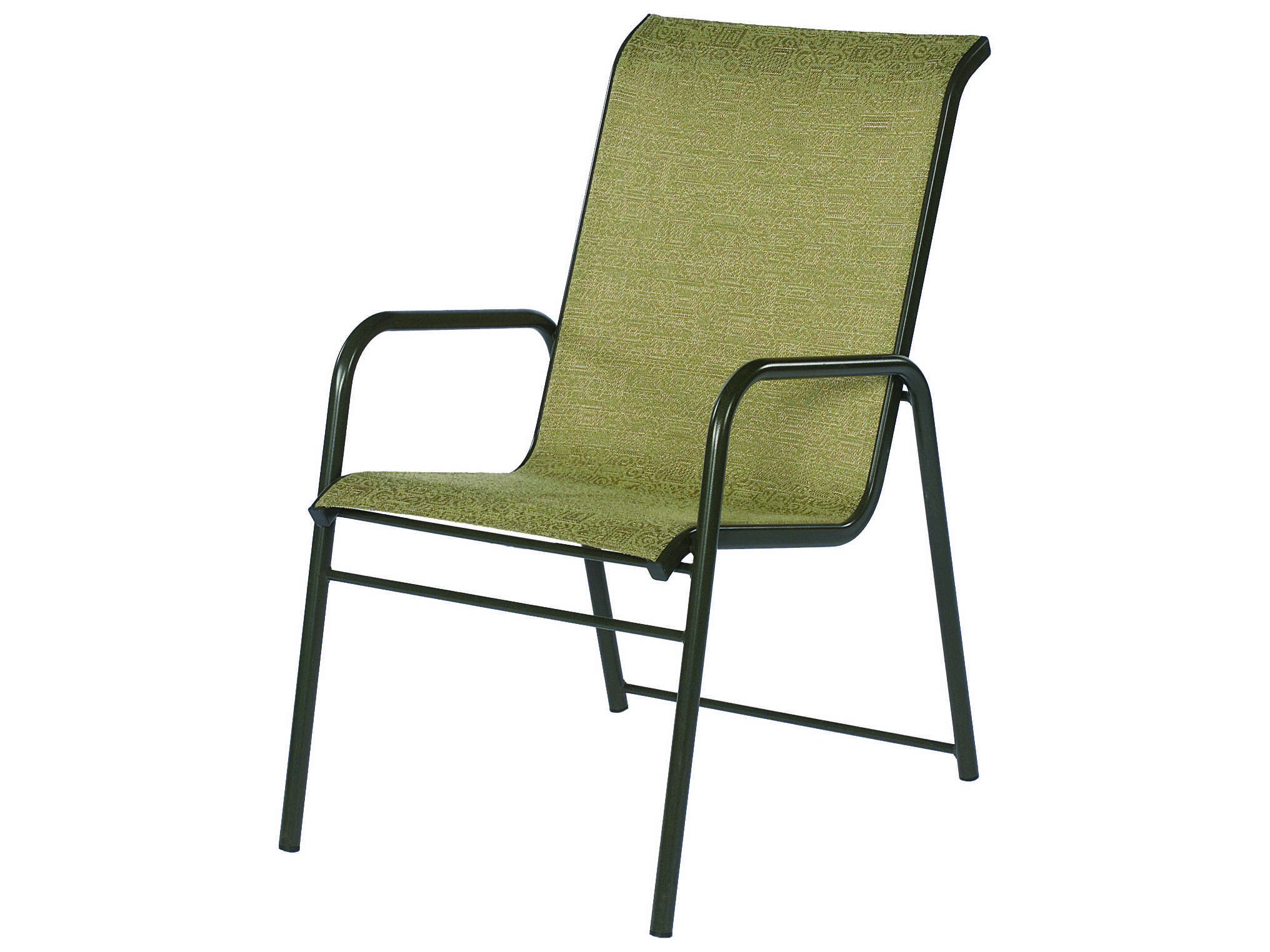 Suncoast Sanibel Sling Cast Aluminum Arm Stackable Dining Chair