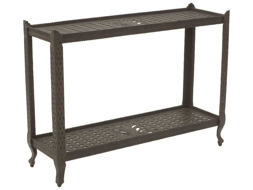 Suncoast cast aluminum 48 39 39 x 16 39 39 rectangular metal Metal console table