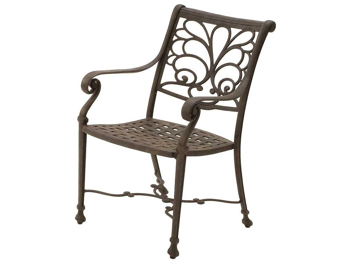 Suncoast Windsor Cast Aluminum Metal Arm Dining Chair