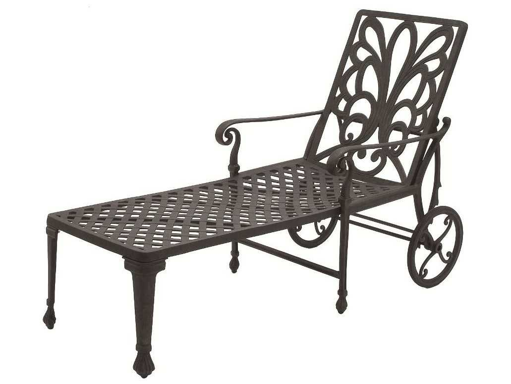 Suncoast windsor cast aluminum metal arm chaise 20213 for Chaise windsor