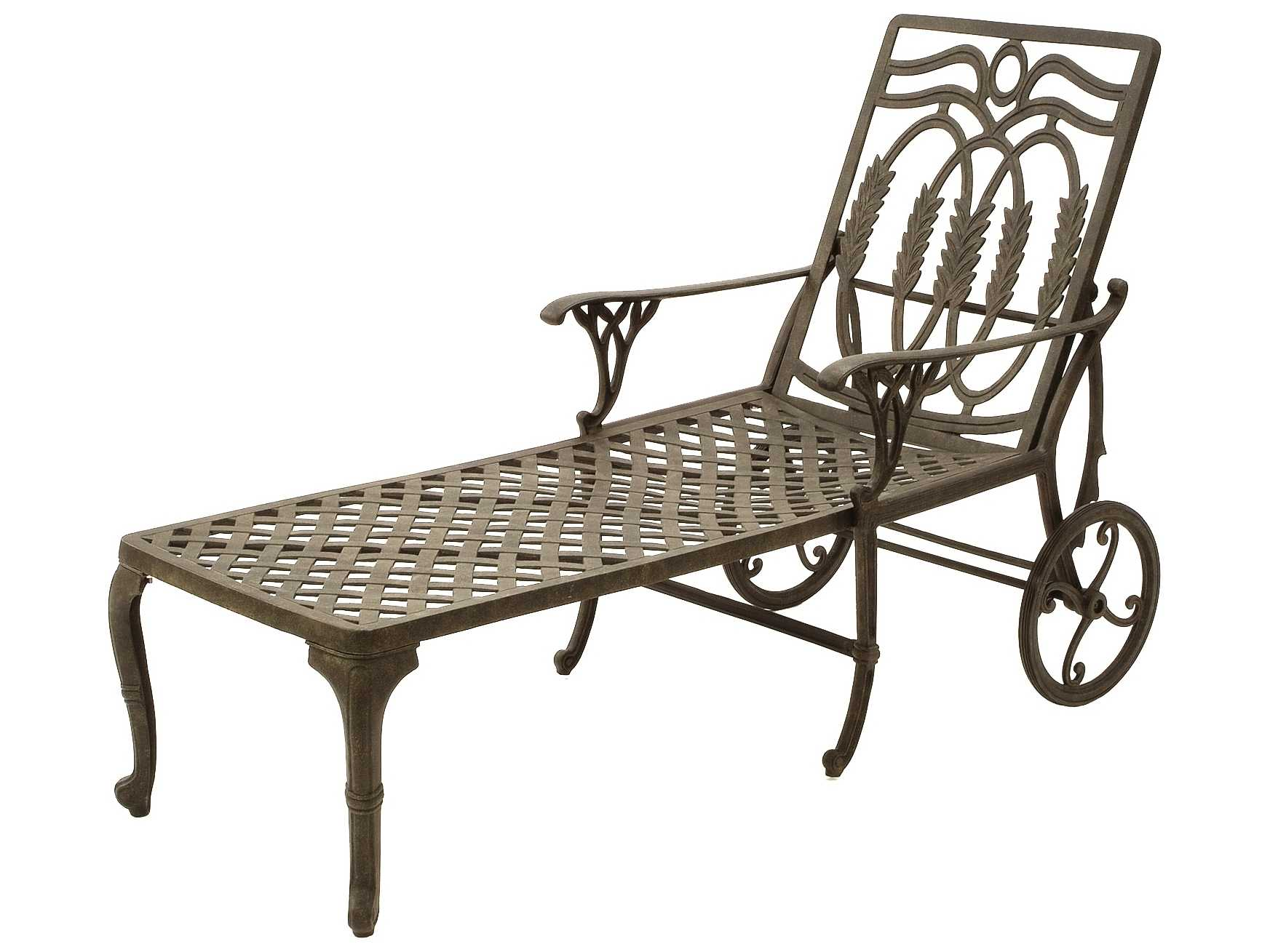 Suncoast olympia cast aluminum metal arm chaise 20413 for Cast aluminum chaise