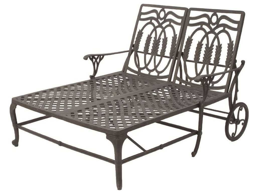 Suncoast olympia cast aluminum double chaise lounge 20423 for Aluminum outdoor chaise lounge