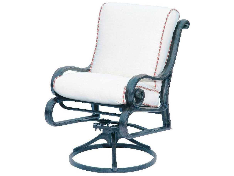 Suncoast San Marco Cushion Cast Aluminum Arm Swivel Rocker Lounge Chair 2316