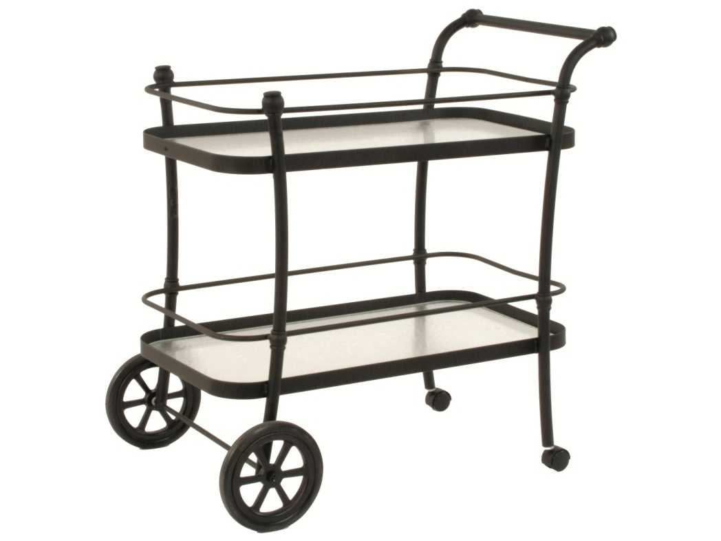 Suncoast Aluminum Glass Serving Cart 24w X 39d X 41h 366c