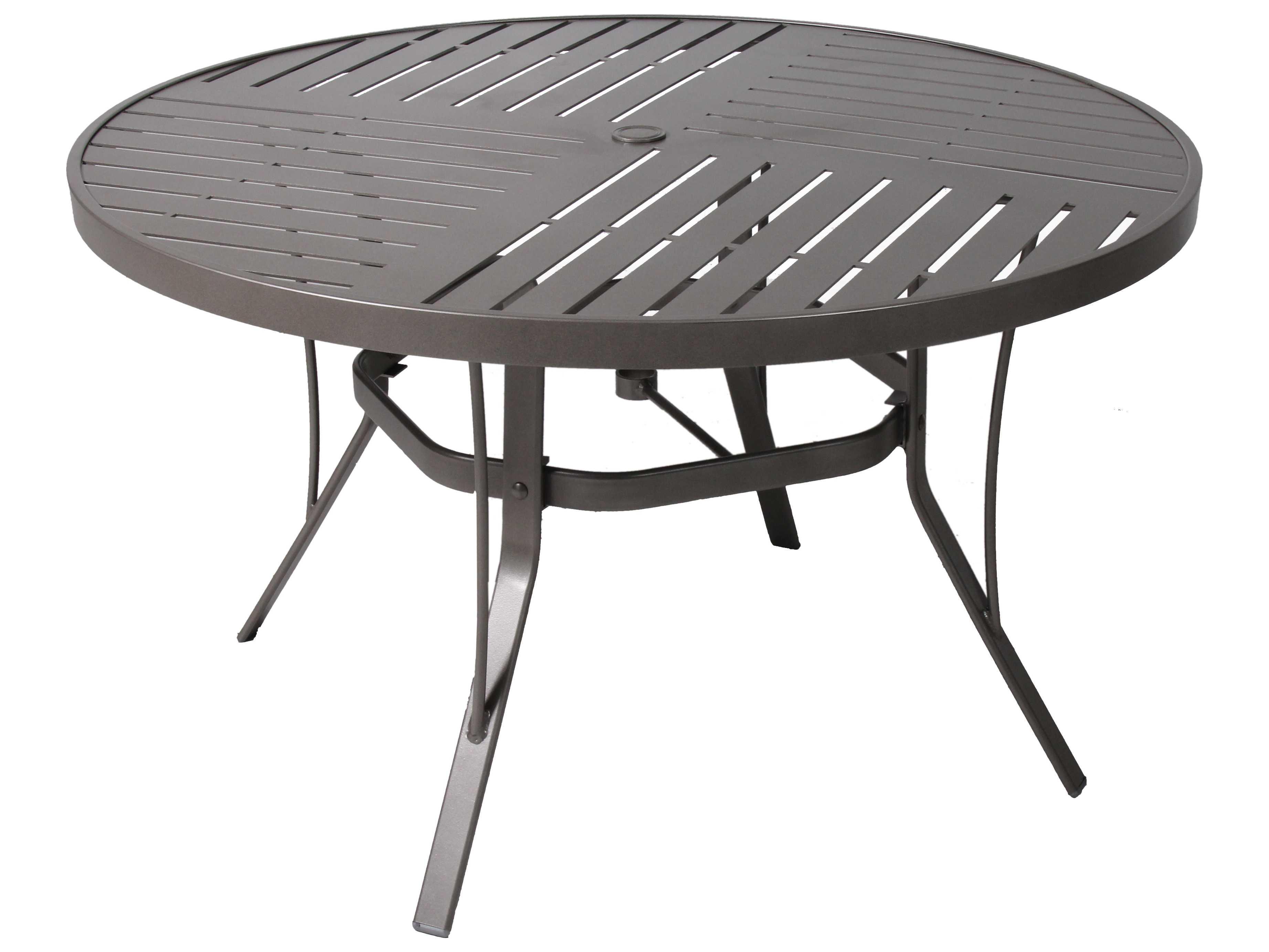 suncoast slat aluminum 48 round dining table 48slpa