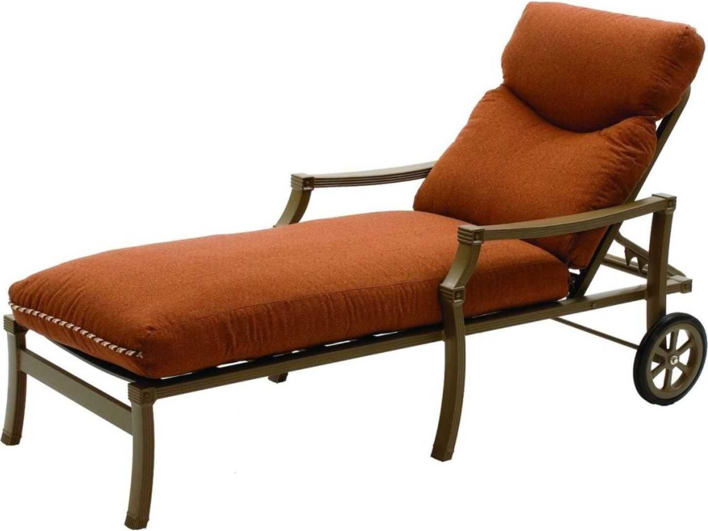 Suncoast devereaux cushion cast aluminum arm chaise 5713 for Cast aluminum chaise