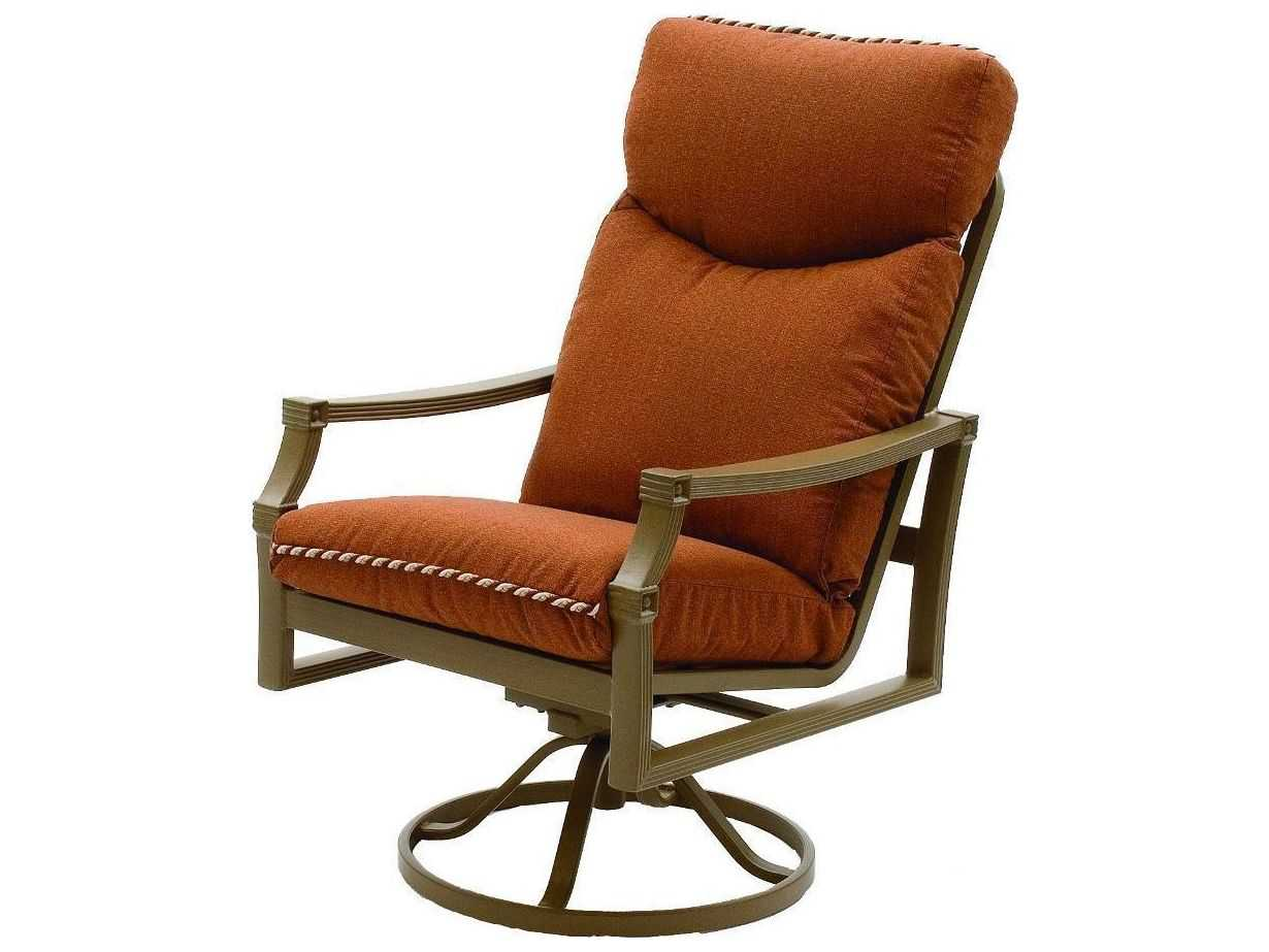 ... Cushion Cast Aluminum Arm Swivel Rocker High Back Dining Chair  5716