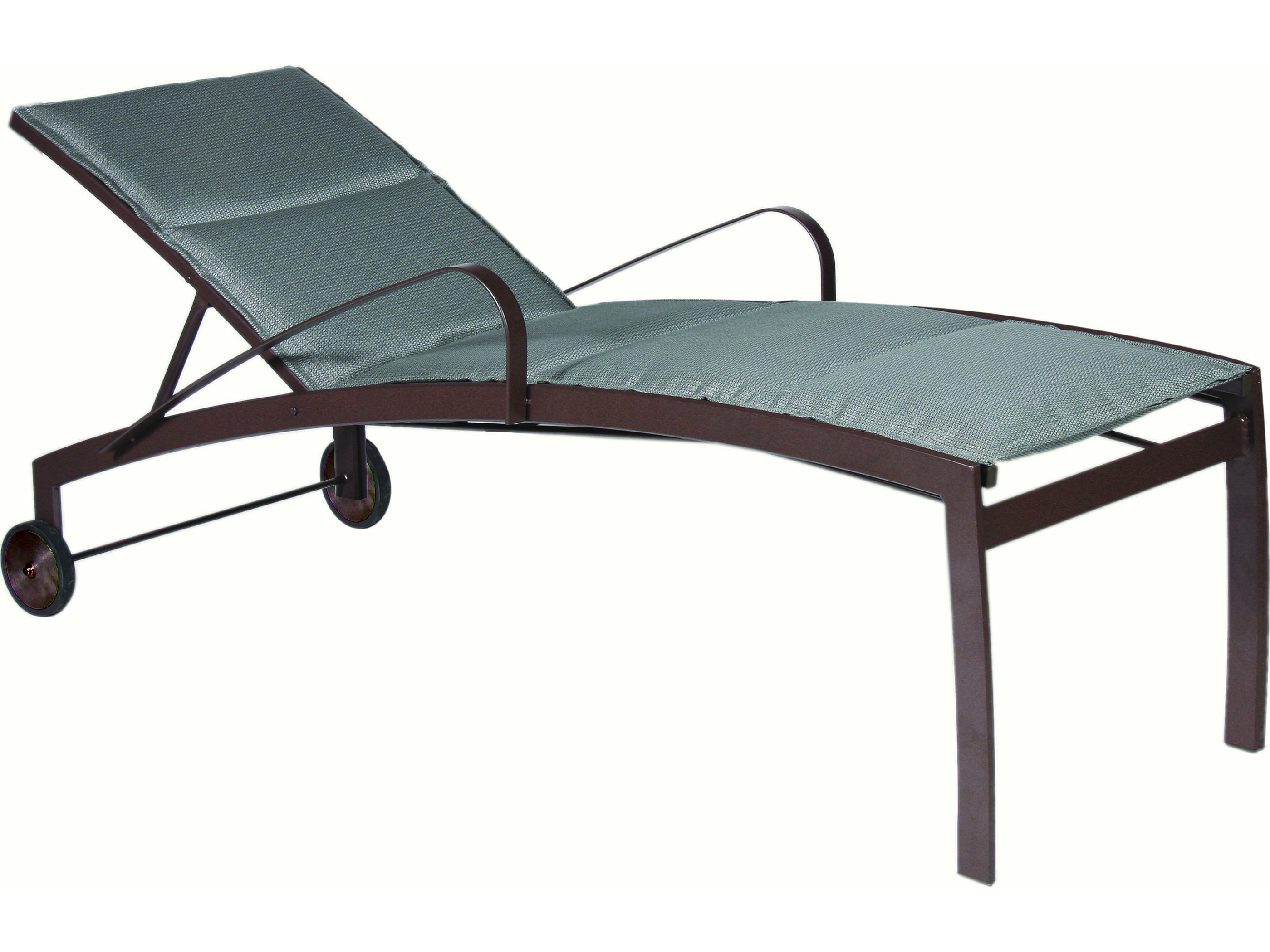 Suncoast vision sling cast aluminum chaise lounge with for Cast aluminum chaise lounge
