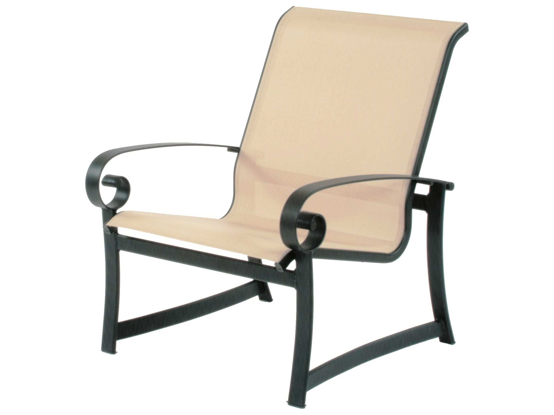 Suncoast Orleans Sling Cast Aluminum Arm Lounge Chair