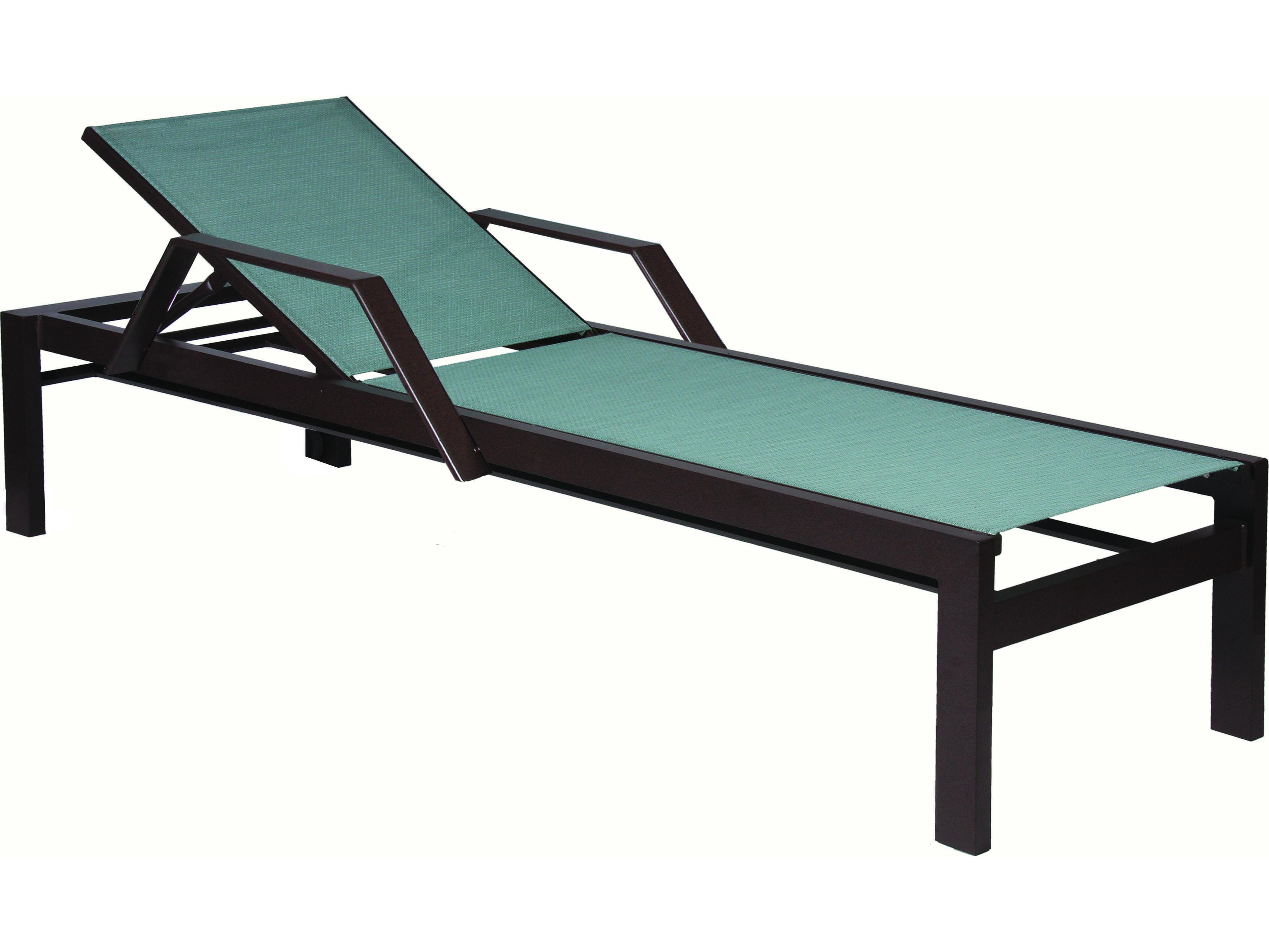 Suncoast vectra bold sling cast aluminum chaise lounge e496 for Aluminum sling chaise lounge