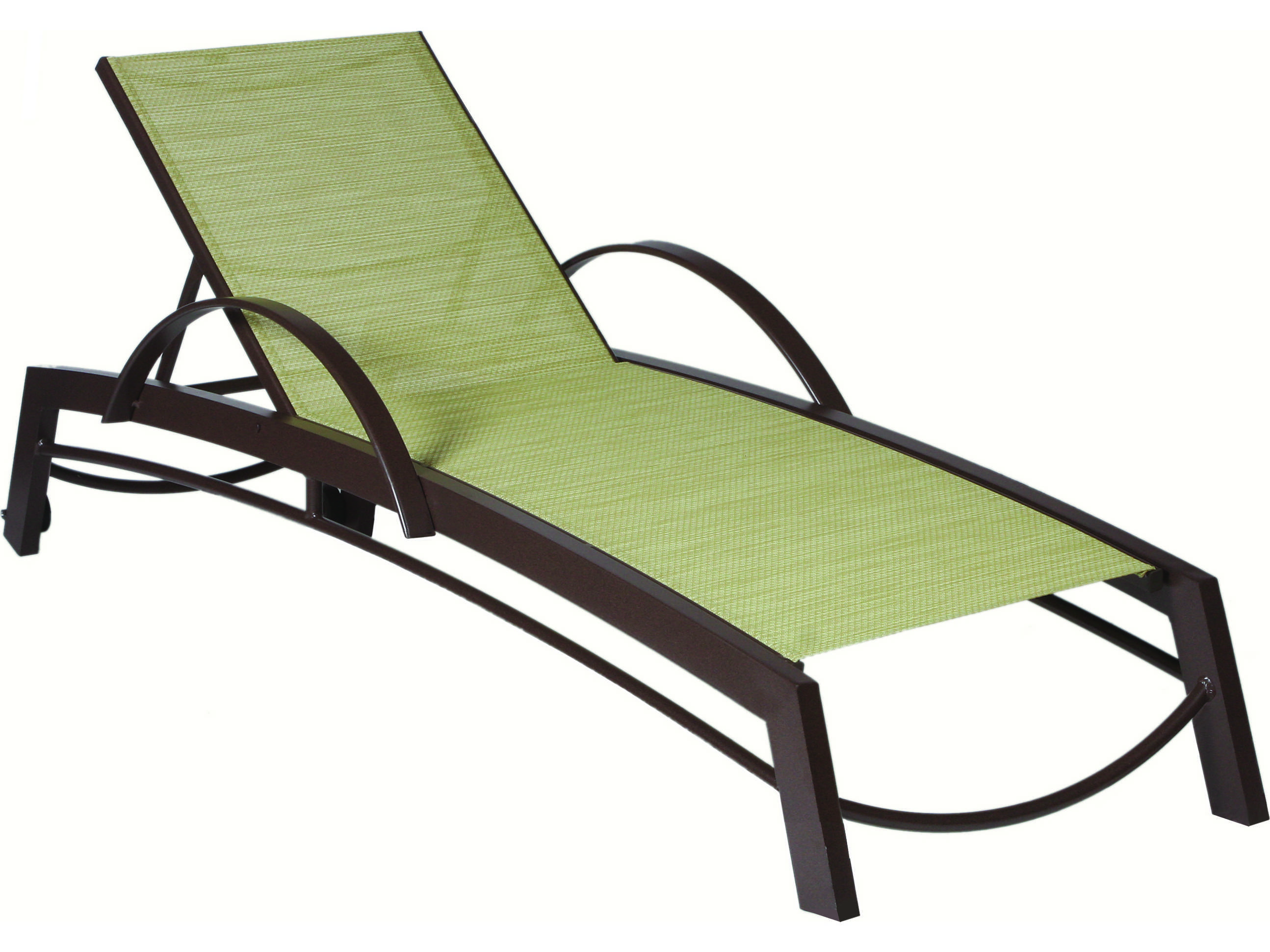 Suncoast Vectra Curv Sling Chaise Lounge With Wheels E593