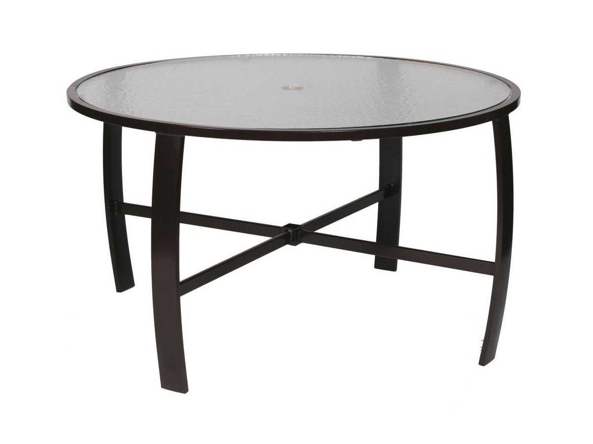 Suncoast pinnacle aluminum 44 39 39 round glass dining table for 44 inch round dining table