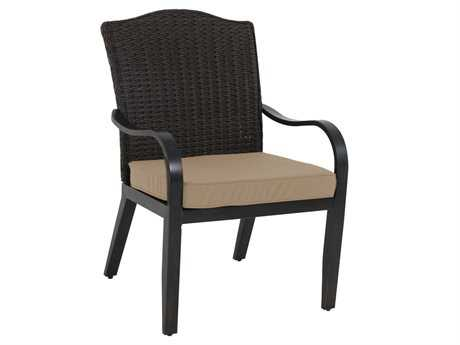 Sunvilla Indies Aluminum Wicker Stationary Mahogany Dining Chair w/ o End Woven (Sold in 2)