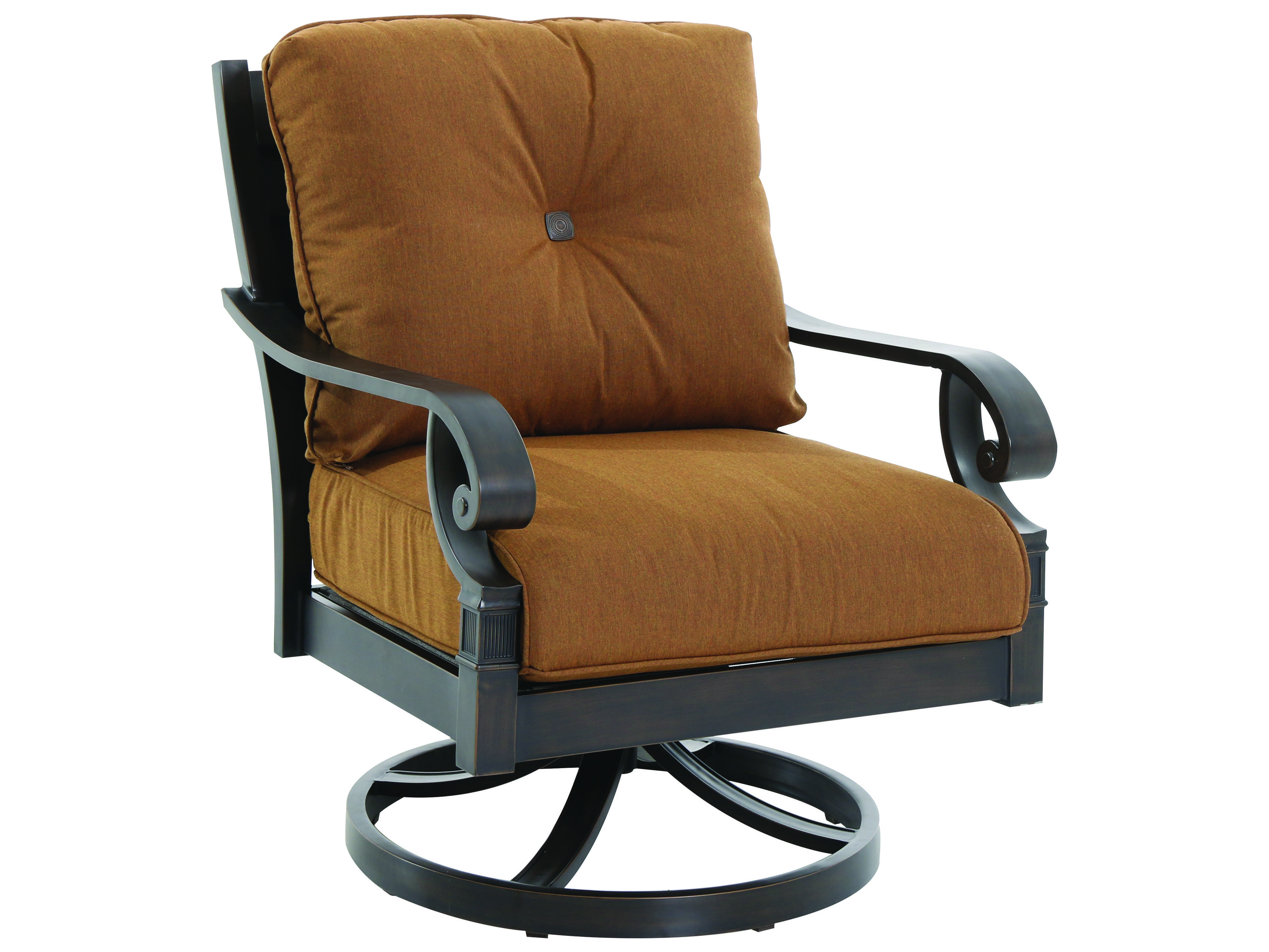 Sunvilla Veritas Aluminum Mahogany Swivel Lounge Chair W