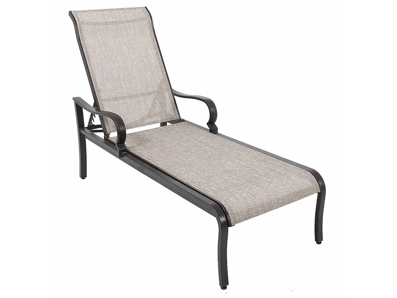 Sunvilla laurel sling aluminum chaise lounge a121100 for Aluminum chaise lounges